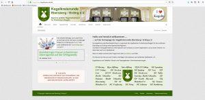 Bild: Screenshot Webeseite Kegelkreisrunde